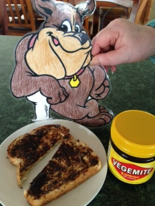 Flat Buddy would you like a vegemite sandwich?