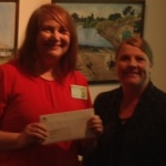 Karen Tyrrell receives grant from Cr Jennie Breene