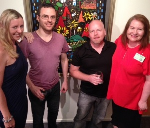 Kelly Hart, Anthony Puttee (Book Cover Cafe), Aaron Pocock (illustrator) and Karen Tyrrell