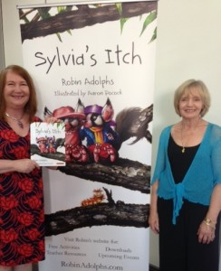Me & Robin at Sylvia's Itch book launch