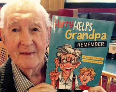 Terry Tyrrell reading Harry Helps Grandpa Remember