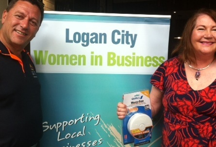Louie and I at Logan City Women in Business