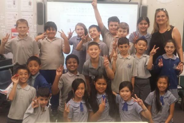 Ms Batar & class 4B  Fairvale school