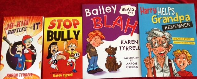 Jo-Kin Battles the It, STOP the Bully, Bailey Beats the Blah and Harry Helps Grandpa Remember