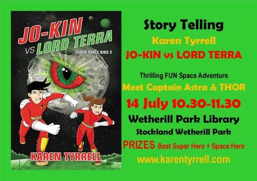 Jokin vs Lord Terra Story telling Wetherill Pk flyer Sydney