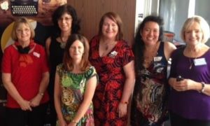 Gold Coast Writers Festival with Elaine, Angela, Candice, Me, Dimity & Robyn.