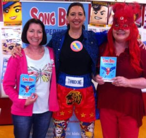 Song Bird Superhero launch with Alison & Jacqui