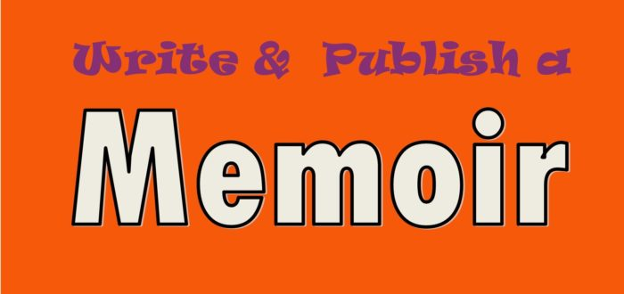 Write & Publish a Memoir orange purple