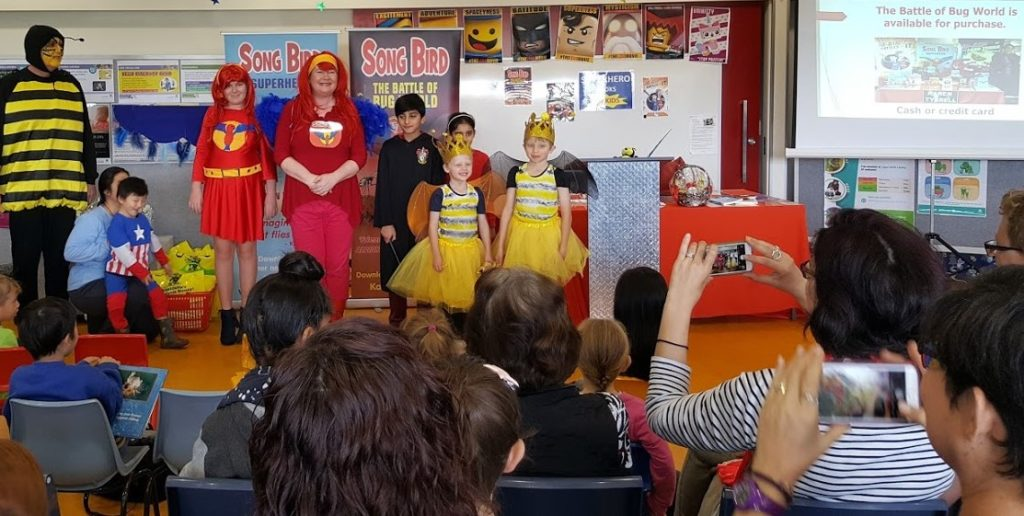 Bees, Birds and Superheroes at The Battle of Bug World Book launch
