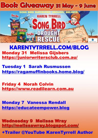 Book Giveaway Song Bird Drought Rescue